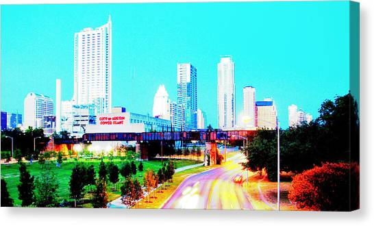 City Of Austin From The Walk Bridge 2 Canvas Print