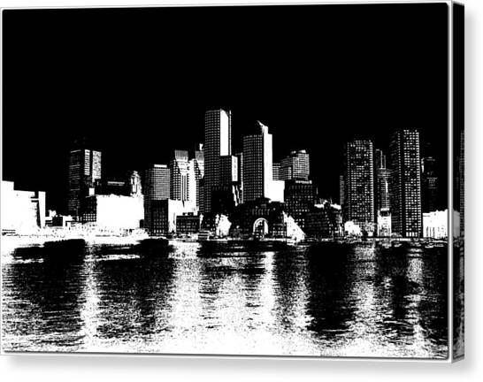 Ben Affleck Canvas Print - City Of Boston Skyline   by Enki Art