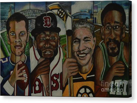 Bobby Orr Canvas Print - City Of Champiions by Anthony Hurt