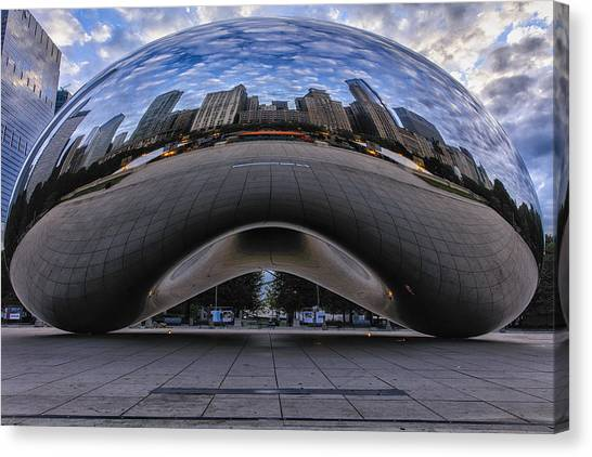 Cloudgate Canvas Print - City Of Clouds by Mike Lang