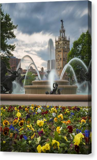 City Of Fountains Canvas Print
