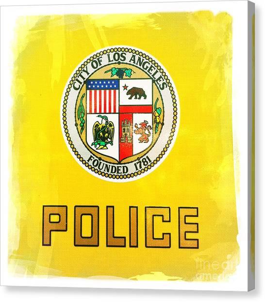 City Of Los Angeles - Police Canvas Print