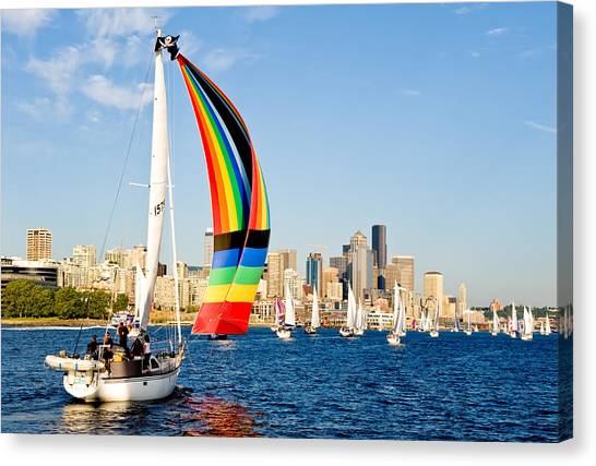 City Of Seattle Canvas Print by Tom Dowd
