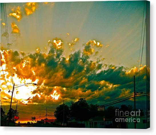 City Of Sky And Wires Canvas Print by Chuck Taylor