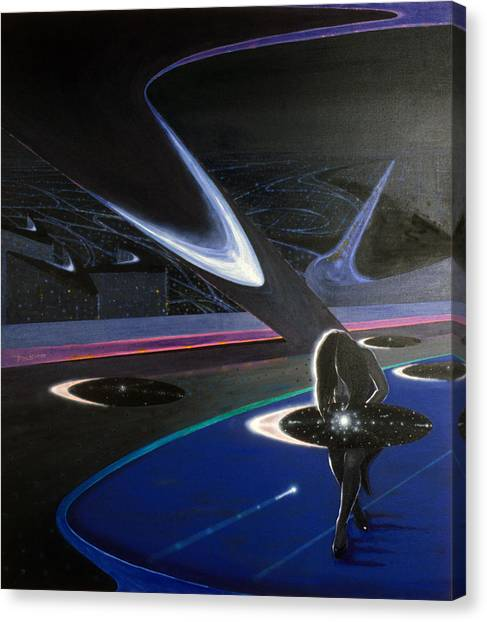 Los Angeles Angels Canvas Print - City Of The Fallen Angel by Hector E Soto