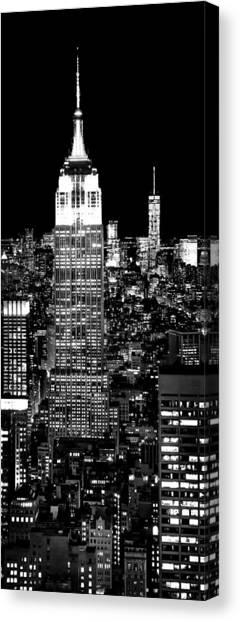 Empire State Building Canvas Print - City Of The Night by Az Jackson
