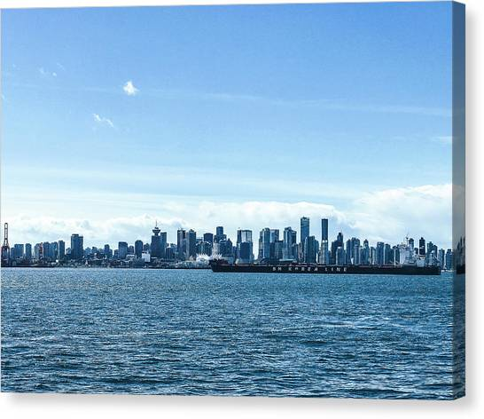 City Of Vancouver From The North Shore Canvas Print