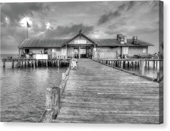 City Pier Anna Maria Island Canvas Print