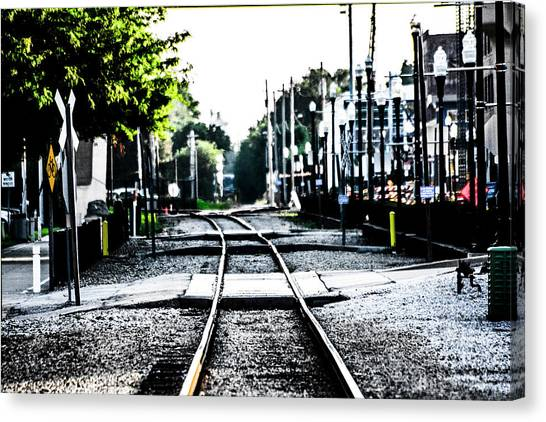 Trainspotting Canvas Print - City Rails by Jeremy Rickman