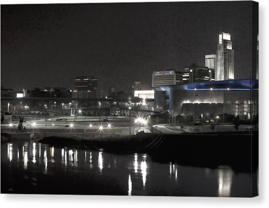City Reflections Canvas Print by Tim Perry
