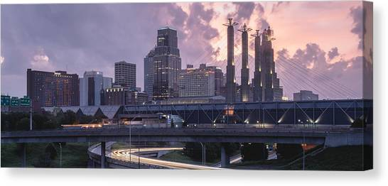 City Sunrises Canvas Print - City Rise by Ryan Heffron