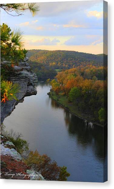 City Rock Bluff Canvas Print