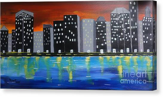City Scape_night Life Canvas Print