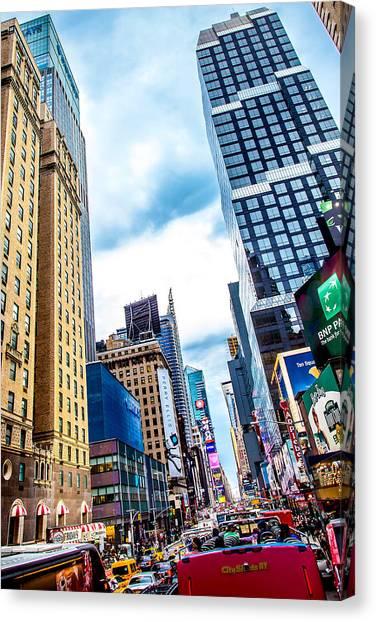New York City Taxi Canvas Print - City Sights Nyc by Az Jackson