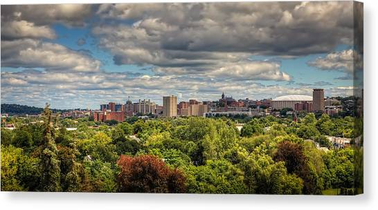 Syracuse University Canvas Print - City Skyline by Everet Regal