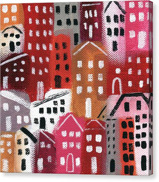 Books Canvas Print - City Stories- Ruby Road by Linda Woods