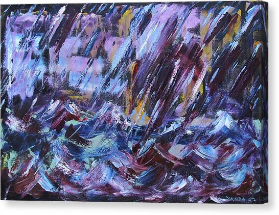 City Storm Abstract Canvas Print