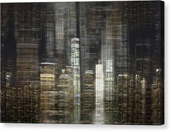 Tetris Canvas Print - City Tetris by Elvira Pinkhas