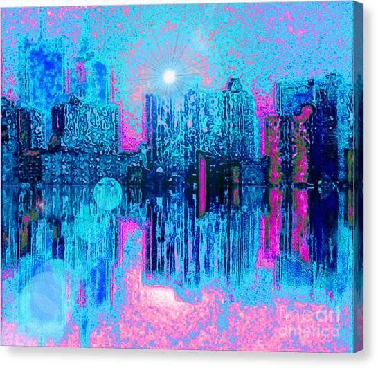 City Twilight Canvas Print