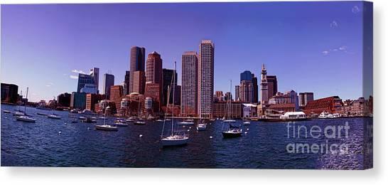 New England Revolution Canvas Print - City View  by Jasmin Hrnjic