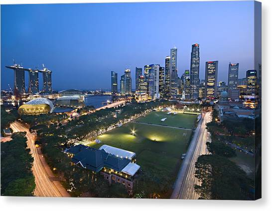 City View Of Singapore Canvas Print