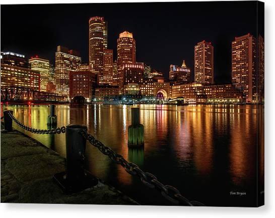 City With A Soul- Boston Harbor Canvas Print