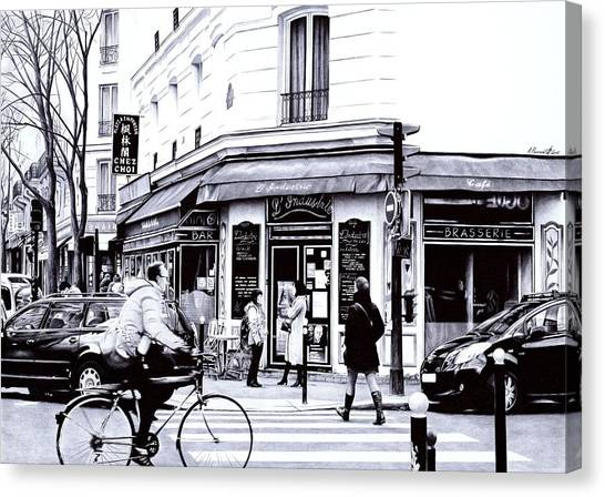 Ballpoint Pens Canvas Print - Citylife - Ballpoint Pen Art by Andrey Poletaev