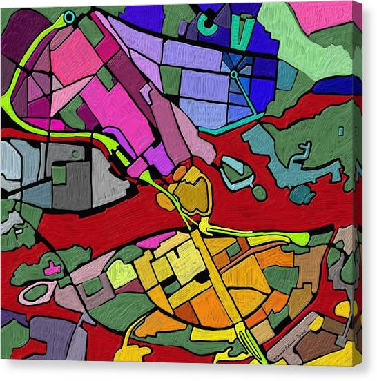 Cityplan#2 Canvas Print