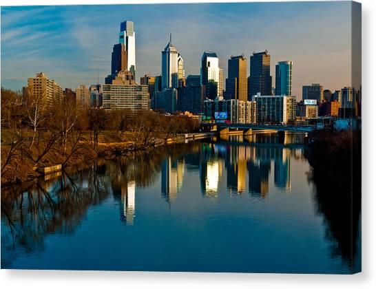 Cityscape Of Philadelphia Pa Canvas Print