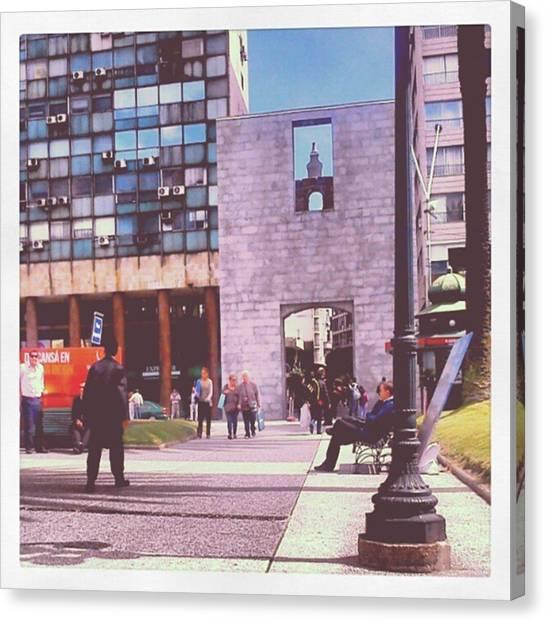 Portal Canvas Print - #ciudadela #montevideo #uruguay #plaza by Fernando Portal