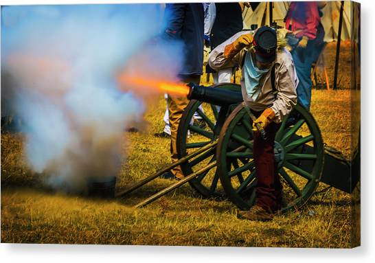 Confederate Army Canvas Print - Civil War Cannon by Garry Gay