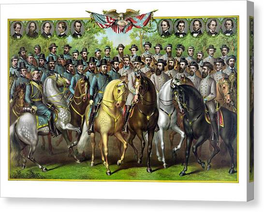 Stonewall Canvas Print - Civil War Generals And Statesman by War Is Hell Store