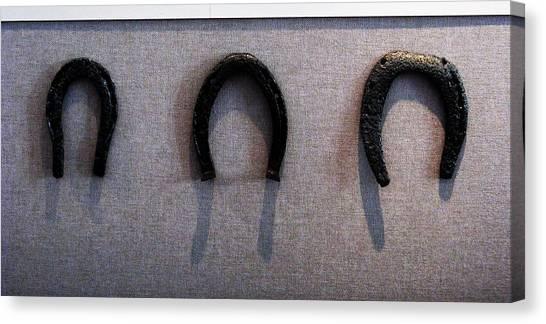 Civil War Horse Shoes Canvas Print by Joyce Kimble Smith
