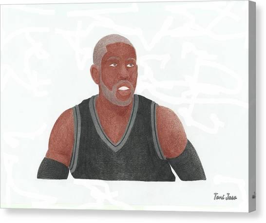 Brooklyn Nets Canvas Print - Cj Watson by Toni Jaso
