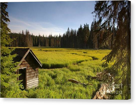 Clackamas Meadow Pump House- 2 Canvas Print