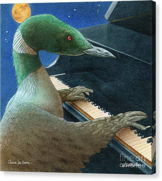 Loons Canvas Print - Claire De Loon... by Will Bullas