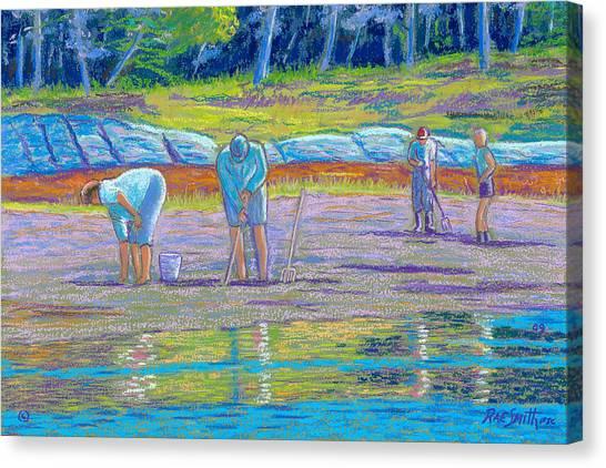 Clam Diggers Canvas Print