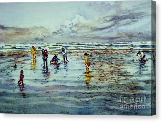 Clamdigging Family Canvas Print
