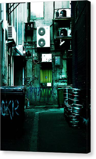 Rubbish Bin Canvas Print - Clandestine by Andrew Paranavitana