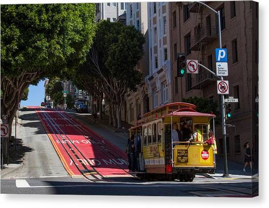 Clang Clang Goes The Cable Car Canvas Print