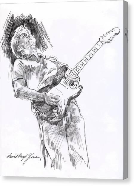Eric Clapton Canvas Print - Clapton Blues Down by David Lloyd Glover