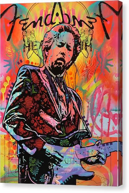 Eric Clapton Canvas Print - Clapton Fend by Dean Russo Art