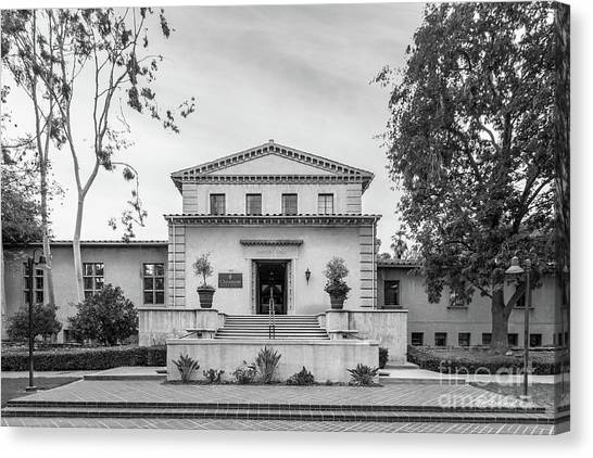 Graduate Degree Canvas Print - Claremont Graduate University Harper Hall by University Icons