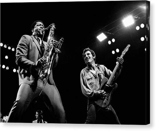 Bruce Springsteen Canvas Print - Clarence And Bruce 1981 by Chris Walter