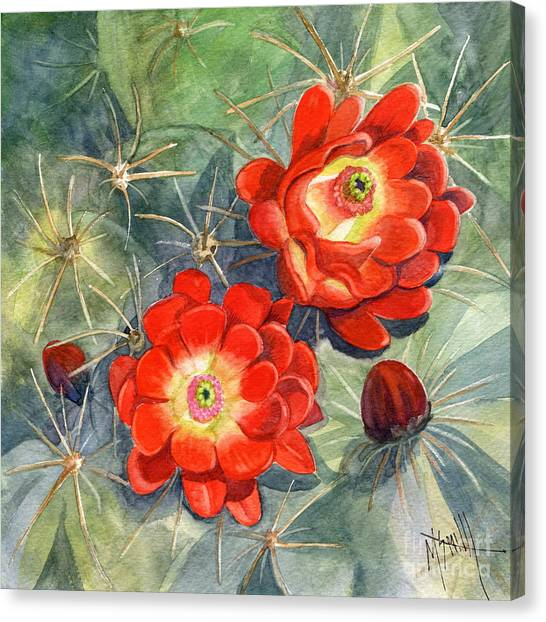 Canvas Print - Claret Cup Cactus by Marilyn Smith