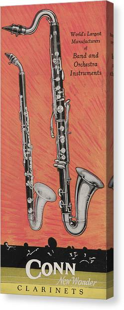 Clarinets Canvas Print - Clarinet And Giant Boehm Bass by American School
