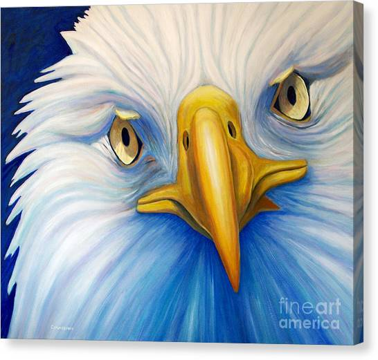 Birds Of Prey Canvas Print - Clarity by Brian  Commerford