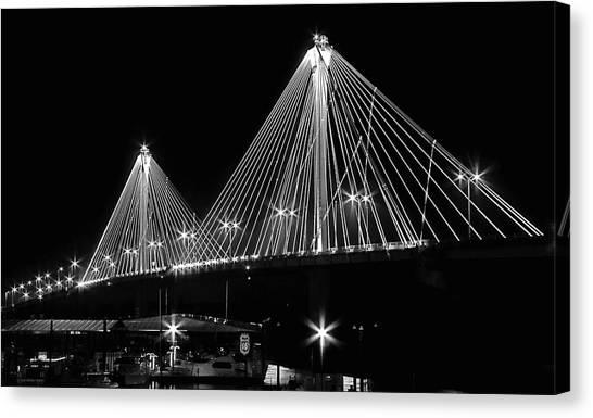 Clark Bridge Night Canvas Print