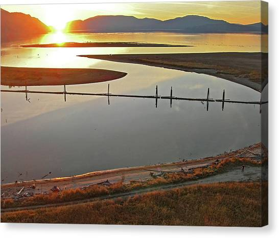 Clark Fork Delta Canvas Print by Jerry Luther