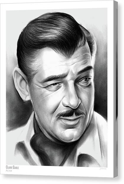 Gone With The Wind Canvas Print - Clark Gable 26aug17 by Greg Joens